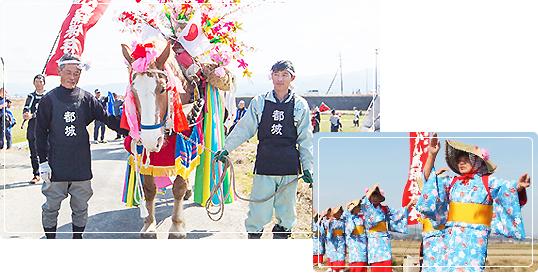 ジャンカン馬踊(下長飯町)の写真