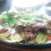 鉄板ハーブ牛スライス肉野菜炒め定食