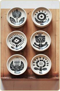 庸山窯の豆皿