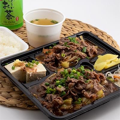 天空牛スライス肉野菜炒め定食