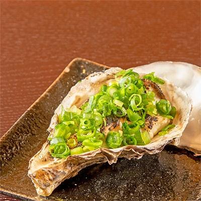 生牡蠣のあぶり焼き